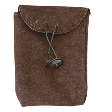 Brown Thin Leather Bag (Small)