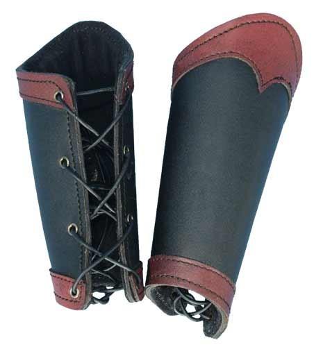 Black/Red Warrior Bracers (Medium)