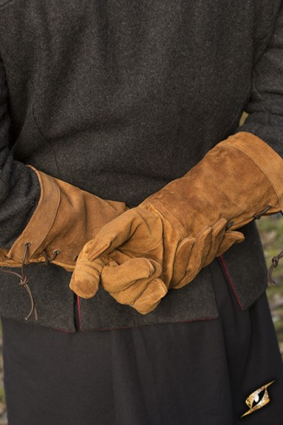 Leather Gloves - Suede