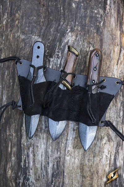 Triple Throwing Knives Holder (Black/Black)