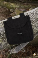 Black Thin Leather Bag (Large)