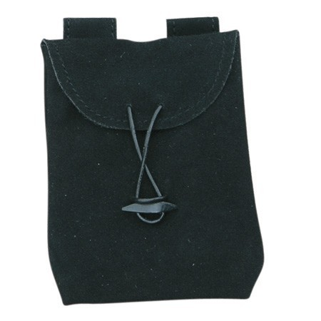 Black Thin Leather Bag (Small)