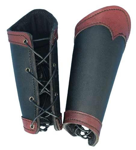 Black/Red Warrior Bracers (Small)